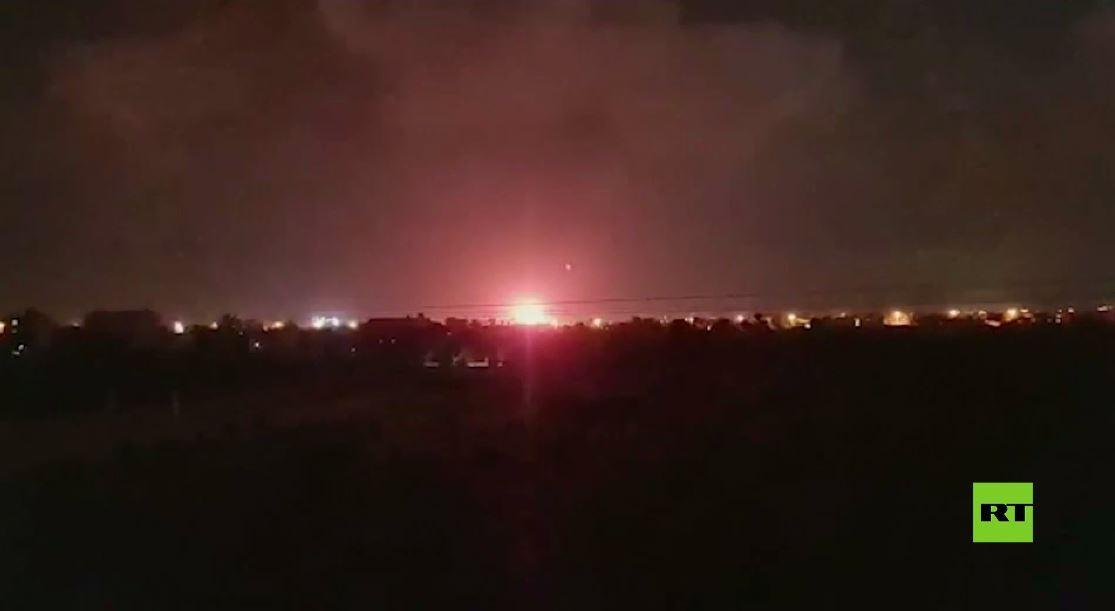 مشاهد من القصف الإسرائيلي الذي استهدف مواقع في قطاع غزة