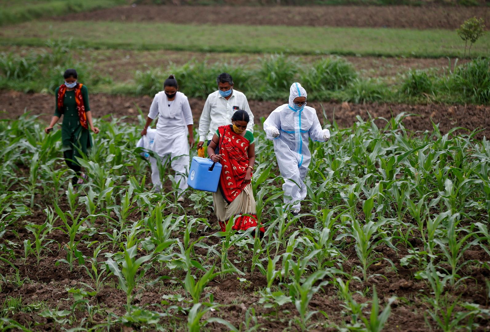 الهند تسجل أدنى ارتفاع يومي بإصابات كورونا منذ 132 يوما