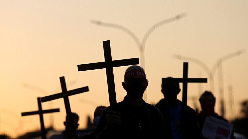 فعالية لإحياء ذكرى ضحايا جائحة فيروس كورونا في البرازيل.