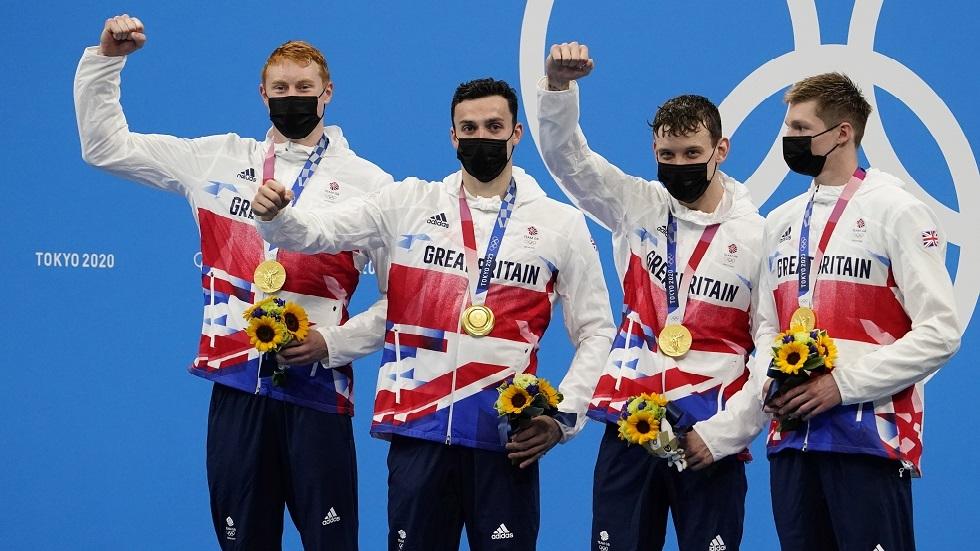 أولمبياد طوكيو.. بريطانيا تحرز ذهبية التتابع أربع مرات 200 متر سباحة حرة