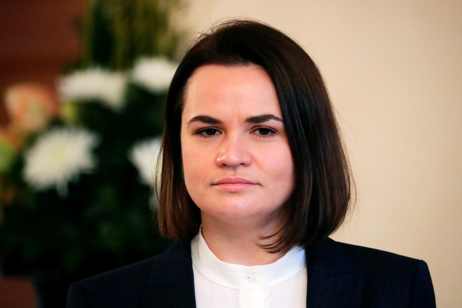 زعيمة المعارضة البيلاروسية، سفياتلانا تسيخانوسكا.