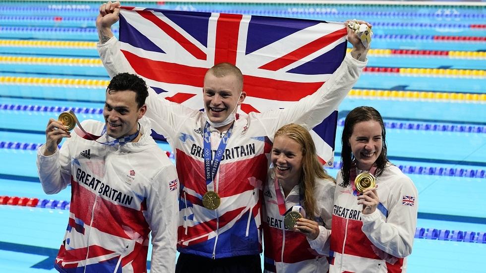 أولمبياد طوكيو.. بريطانيا تحرز ذهبية التتابع المختلط 4 مرات 100 م للسباحة المتنوعة برقم عالمي