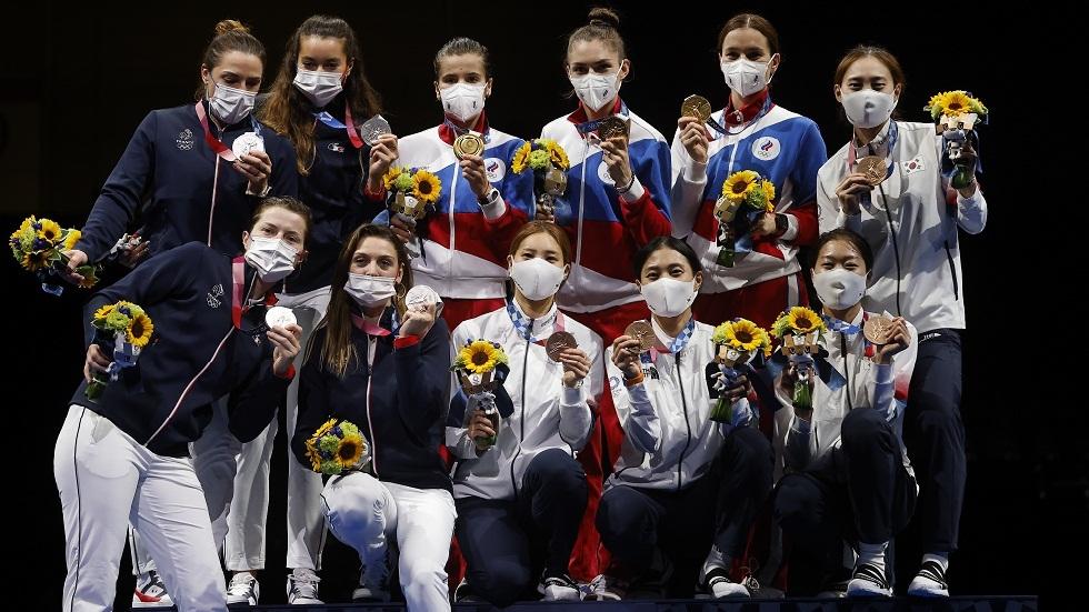 روسيا تحرز ذهبية مبارزة السيف لفرق السيدات في أولمبياد طوكيو