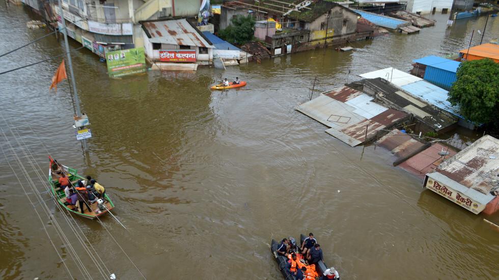 الهند.. مصرع 230 شخصا بسبب الأمطار الموسمية شرقي البلاد