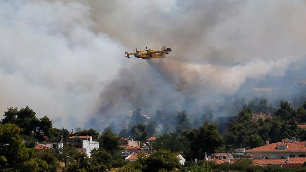 اليونان.. إخلاء عدد من القرى غربي البلاد مع احتدام حريق الغابات