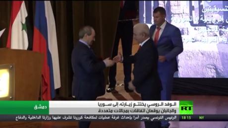 الوفد الروسي يختتم زيارته إلى سوريا