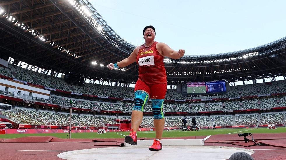 الصينية جونغ لي جياو تحرز ذهبية دفع الجلة في أولمبياد طوكيو
