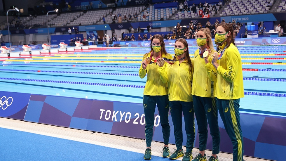 أولمبياد طوكيو.. ماكيون تقود أستراليا إلى ذهبية التتابع أربع مرات 100 م للسباحة المتنوعة