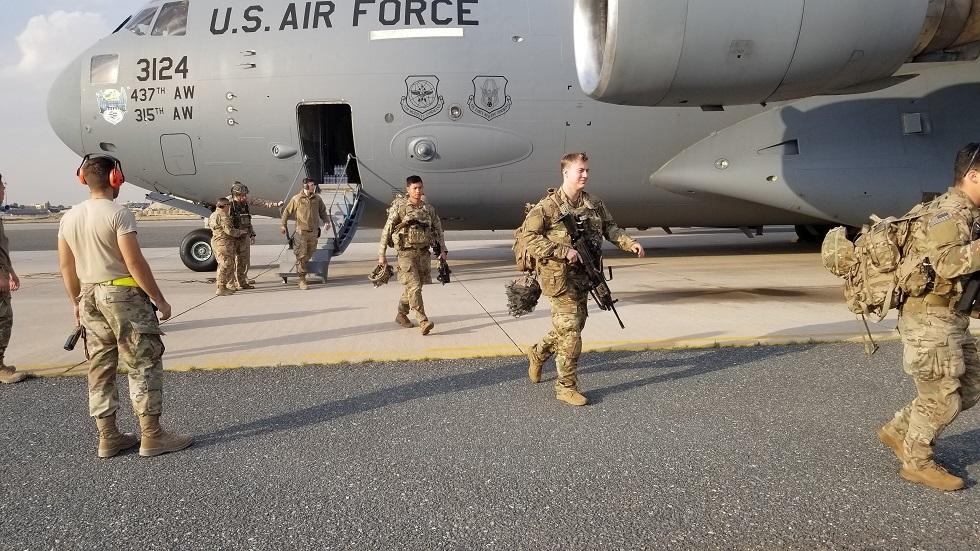 جنود أمريكيون في قاعدة على السالم الجوية بالكويت (صورة أرشيفية)