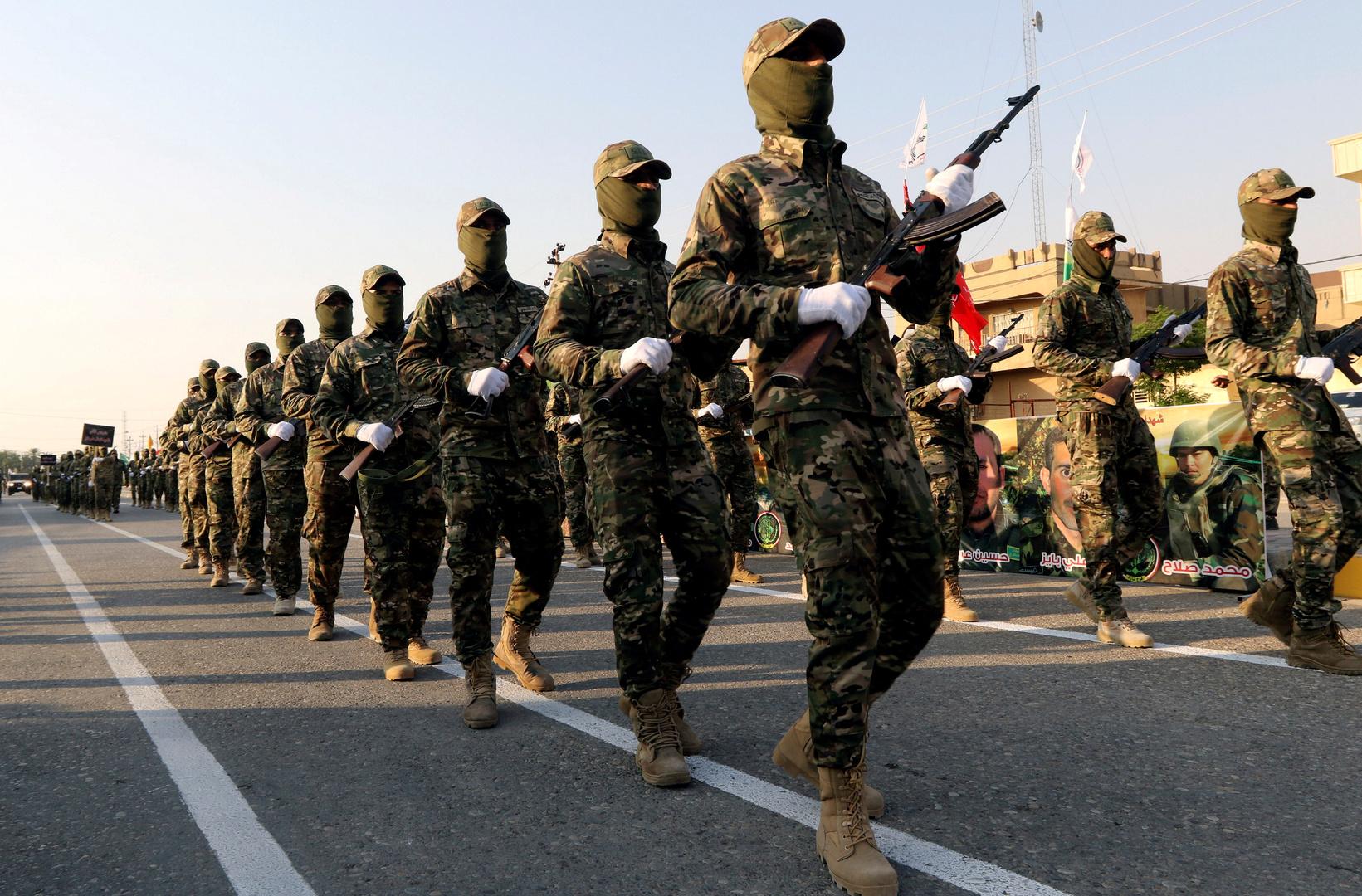 عناصر من الحشد الشعبي العراقي