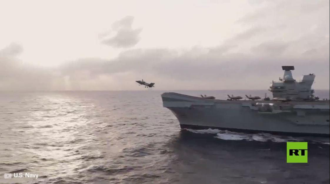 شاهد.. إقلاع إف-35 الأمريكية من حاملة الطائرات