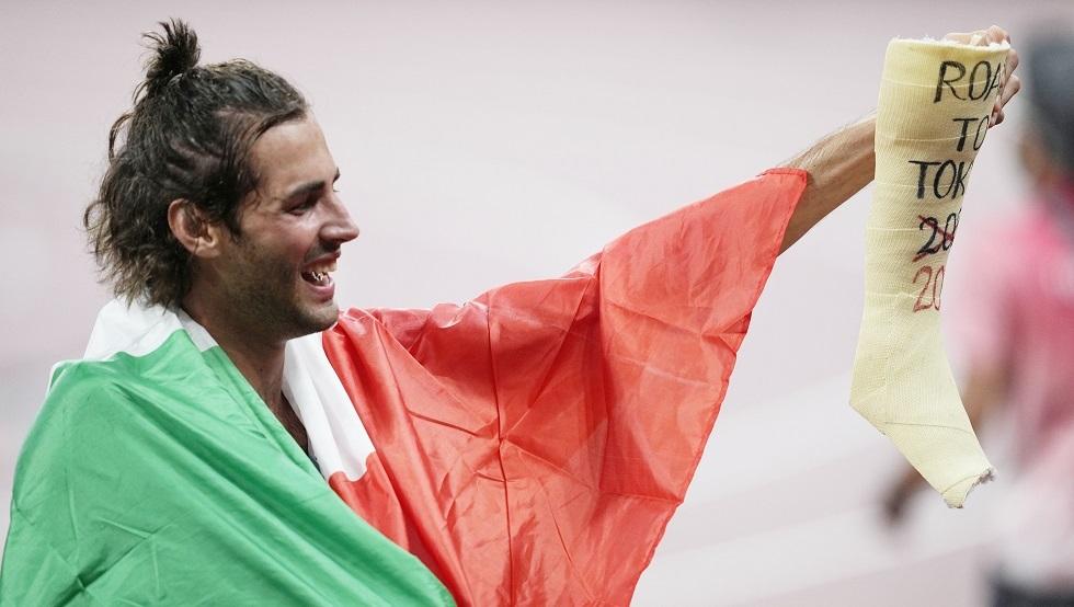دولة عربية تتقاسم ميدالية ذهبية في أولمبياد طوكيو مع دولة أوروبية!.. فيديو