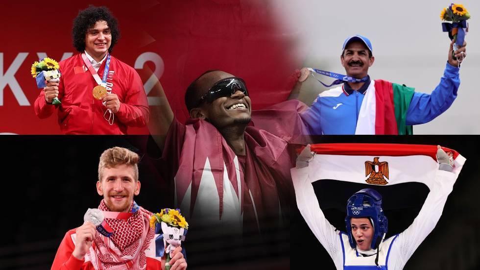 حصيلة ميداليات الدول العربية بعد منافسات اليوم الأحد في أولمبياد 2020