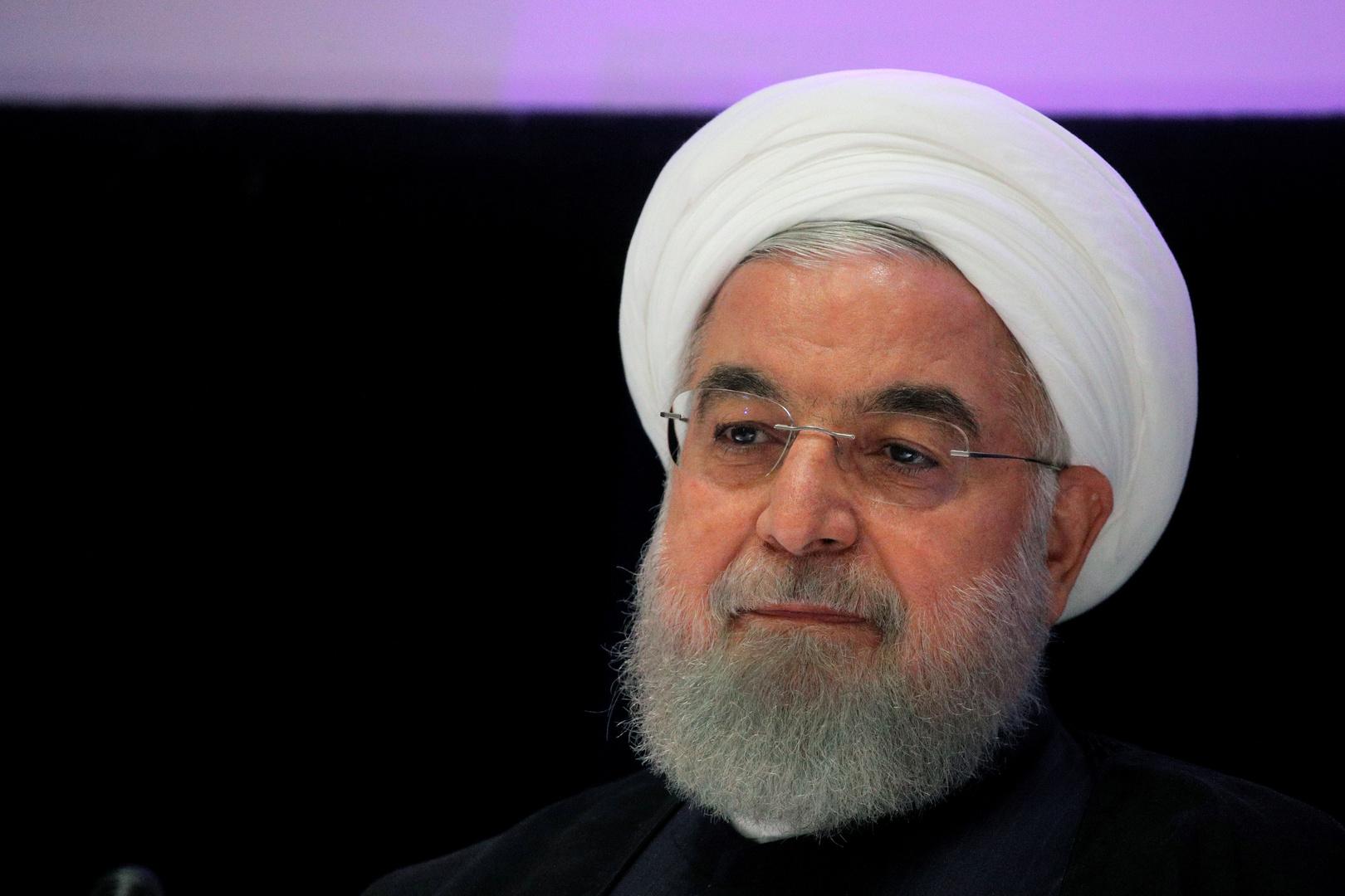 الرئيس الإيراني المنتهية ولايته حسن روحاني، صورة أرشيفية