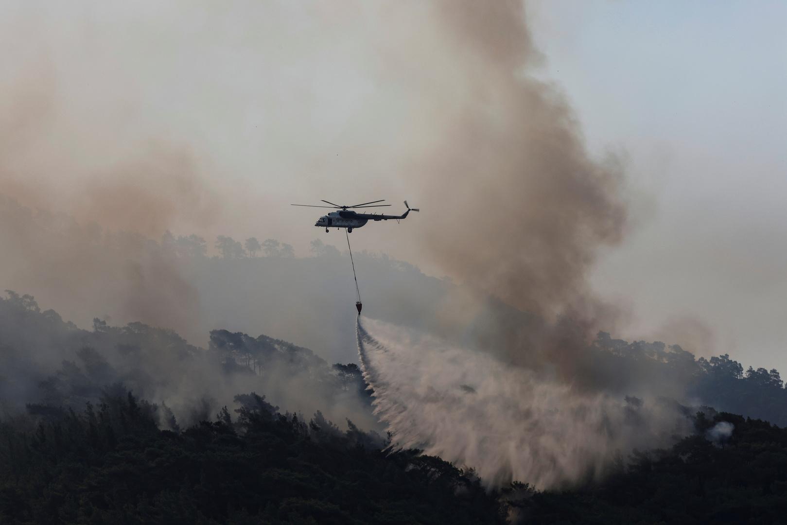 وصول فريق طوارئ قطري إلى تركيا للمشاركة في إخماد حرائق الغابات
