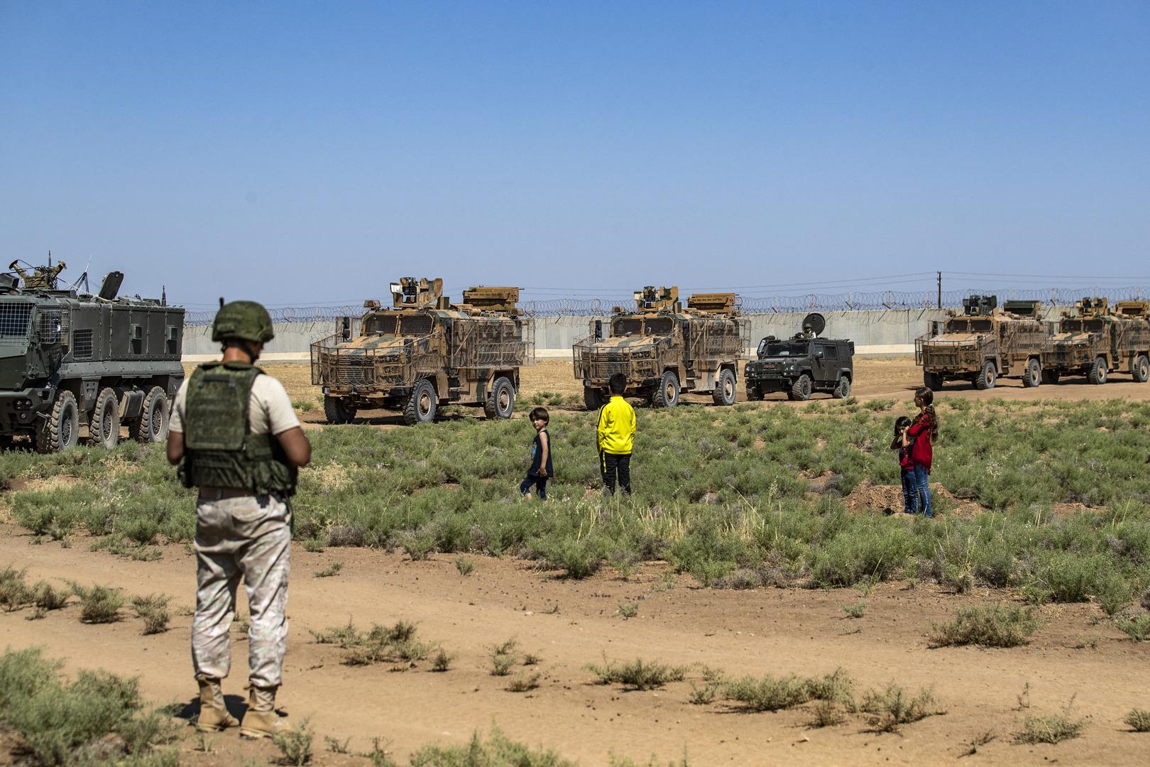 تسيير دورية روسية تركية مشتركة في ريف حلب شمال سوريا