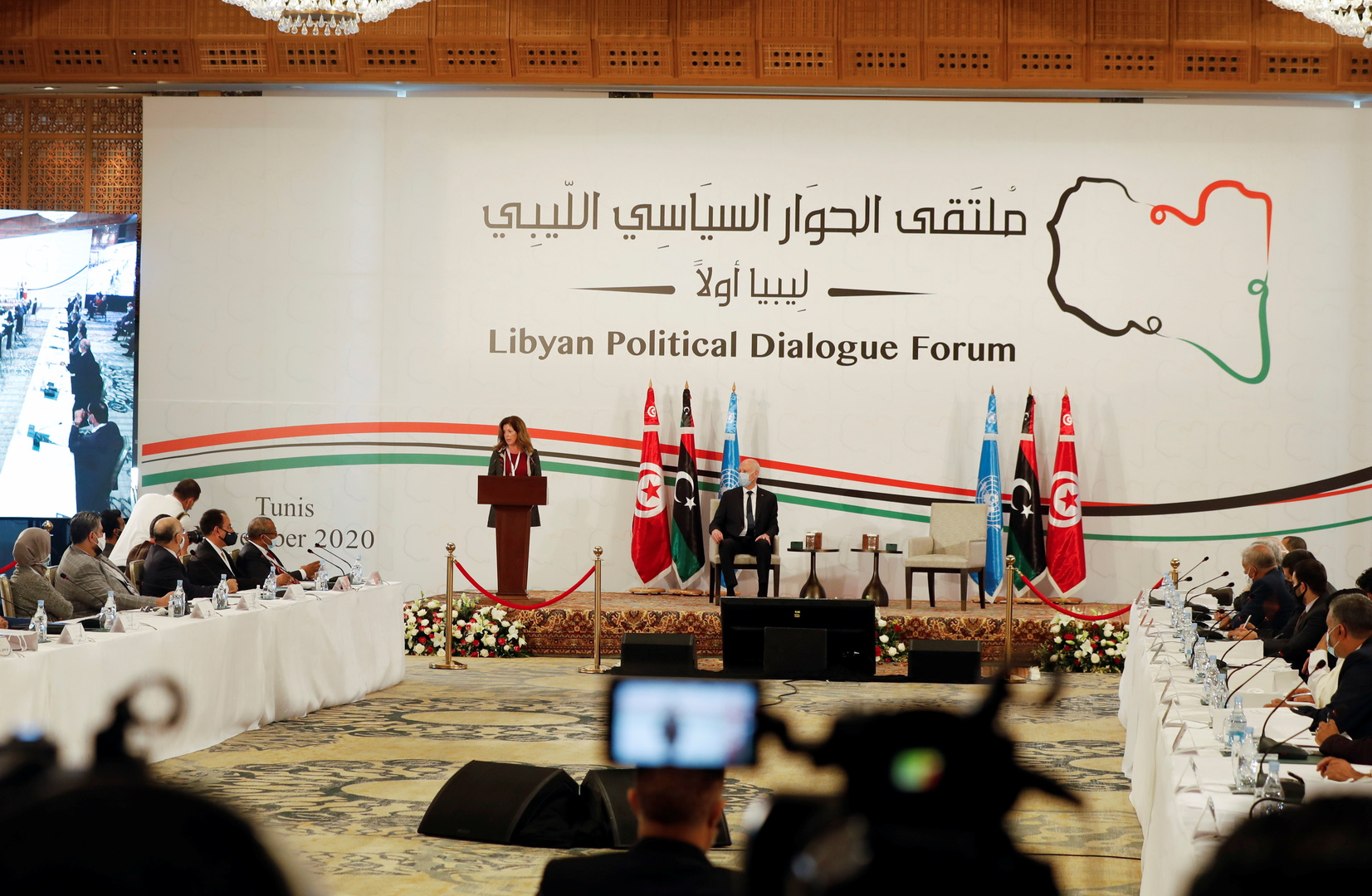 المنقوش ولعمامرة يبحثان آفاق التوصل إلى تسوية سلمية في ليبيا