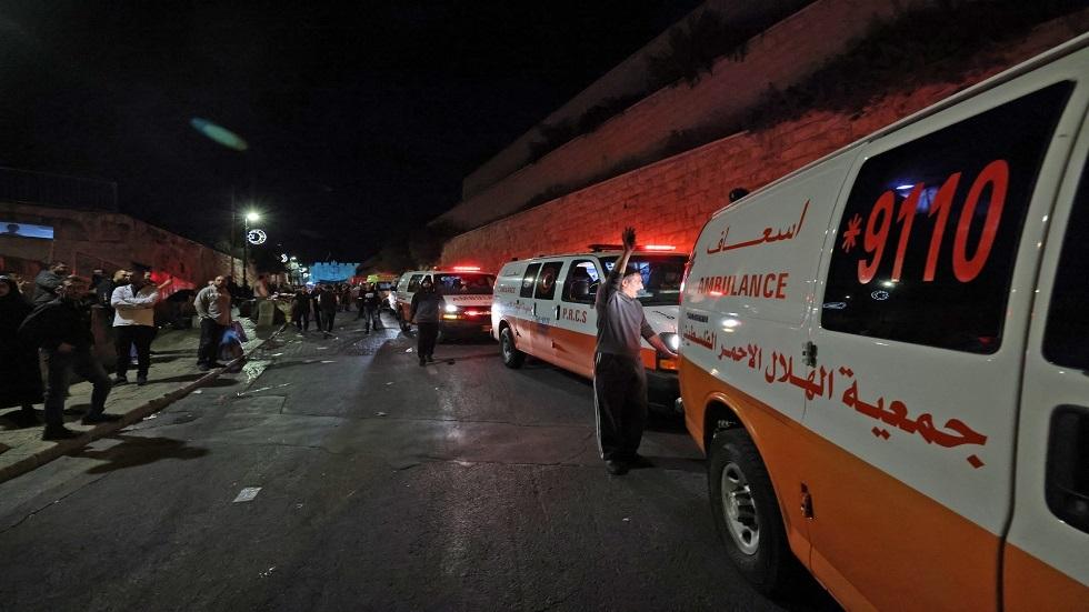 سيارات الإسعاف التابعة للهلال الأحمر الفلسطيني - أرشيف
