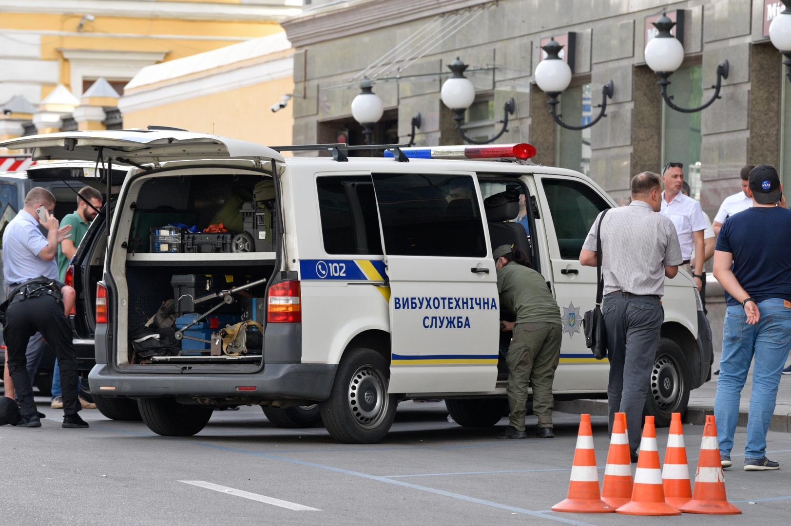 قوات الأمن الأوكرانية تعتقل رجلا هدد بتفجير قنبلة داخل مقر الحكومة