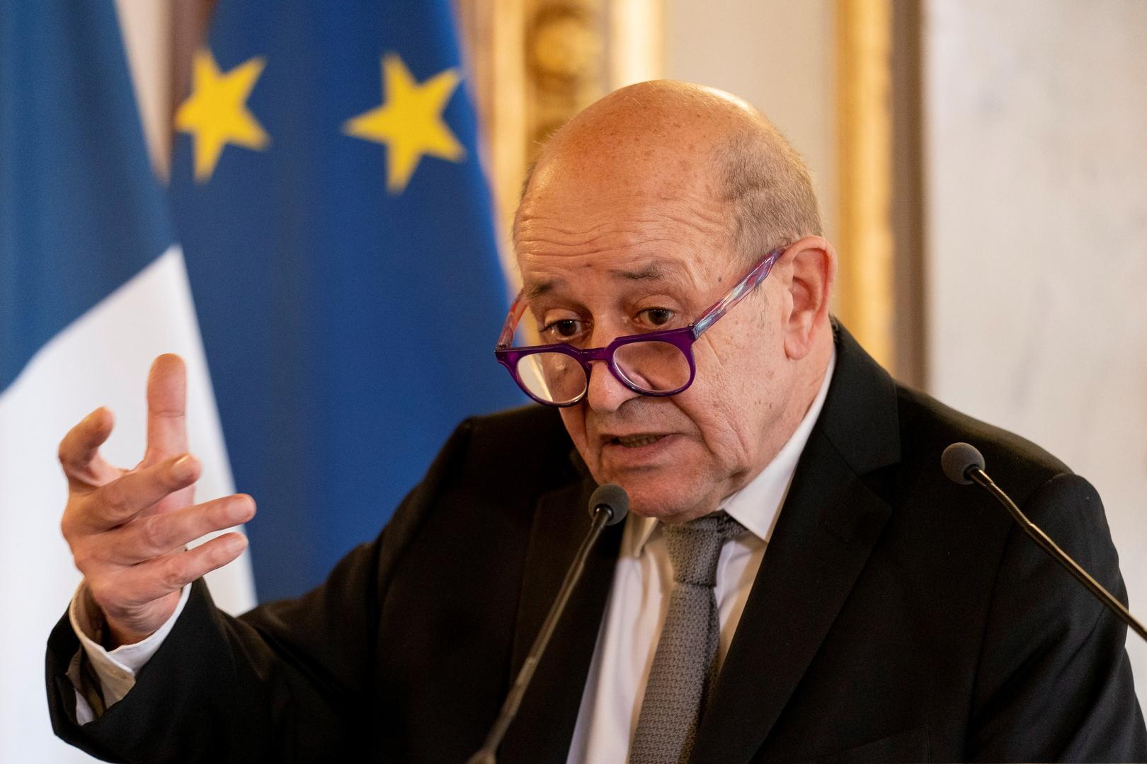 وزير الحارجية الفرنسي جان إيف لو دريان