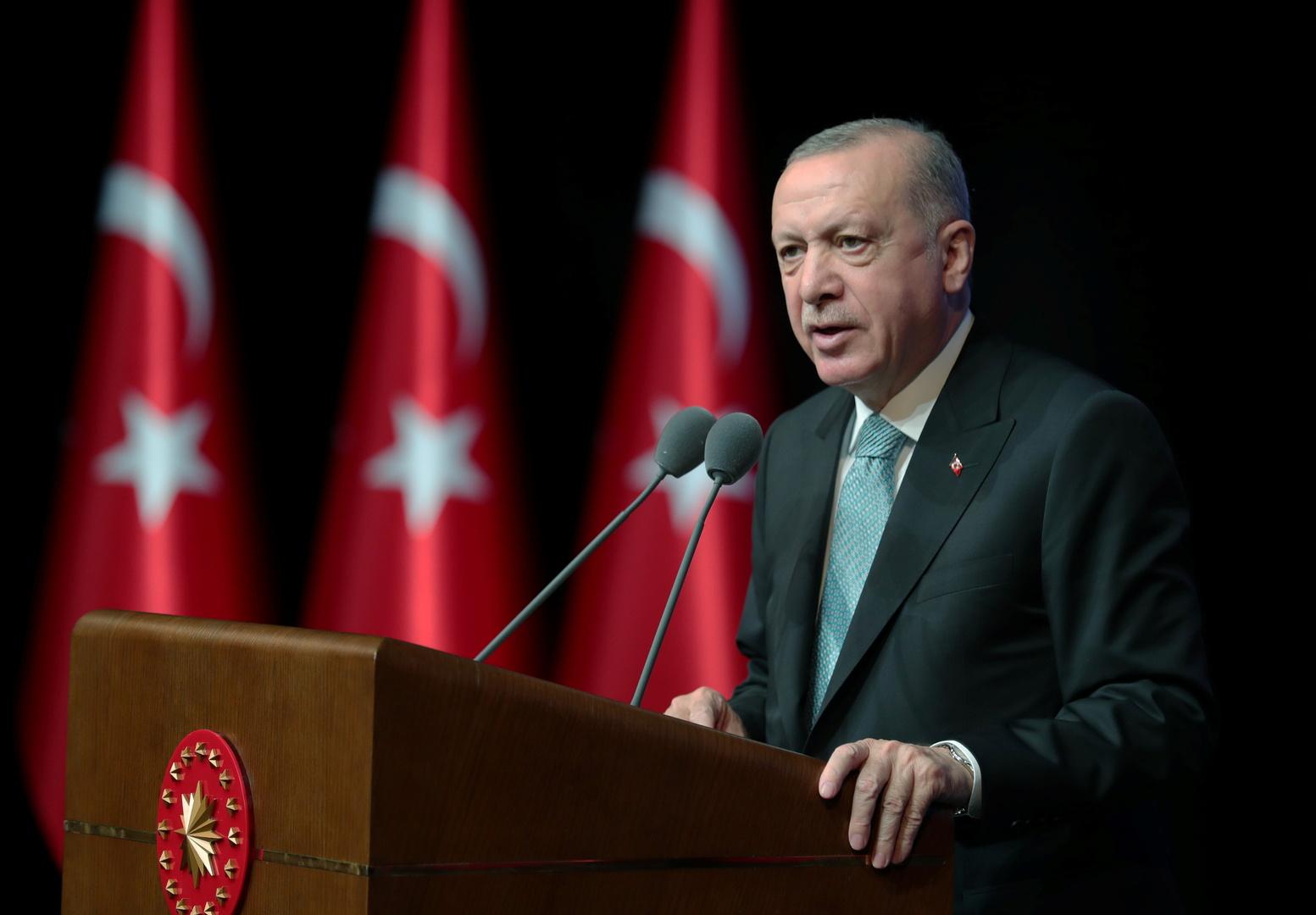 أردوغان يدعو إلى عدم استغلال حرائق الغابات في تركيا لـ