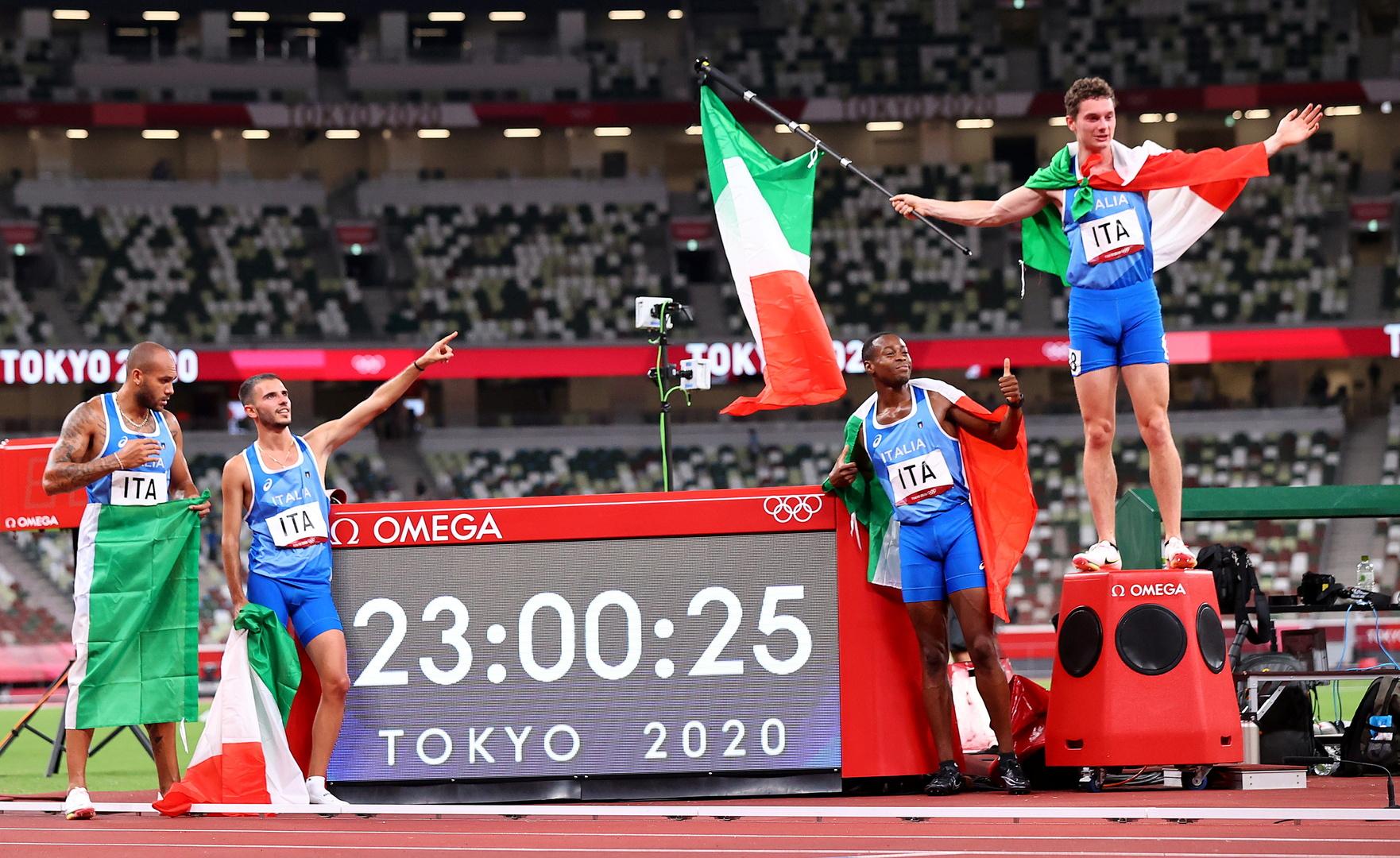 شاهد.. إيطاليا تسطر التاريخ في أولمبياد 2021 بأحرف من ذهب