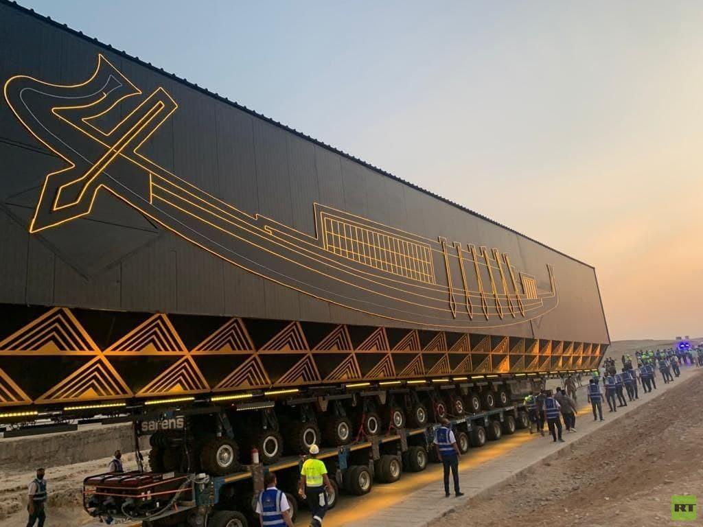 مصر تستقدم مركبة خاصة وفريدة لنقل أكبر وأقدم أثر عضوي في التاريخ الإنساني (صور)
