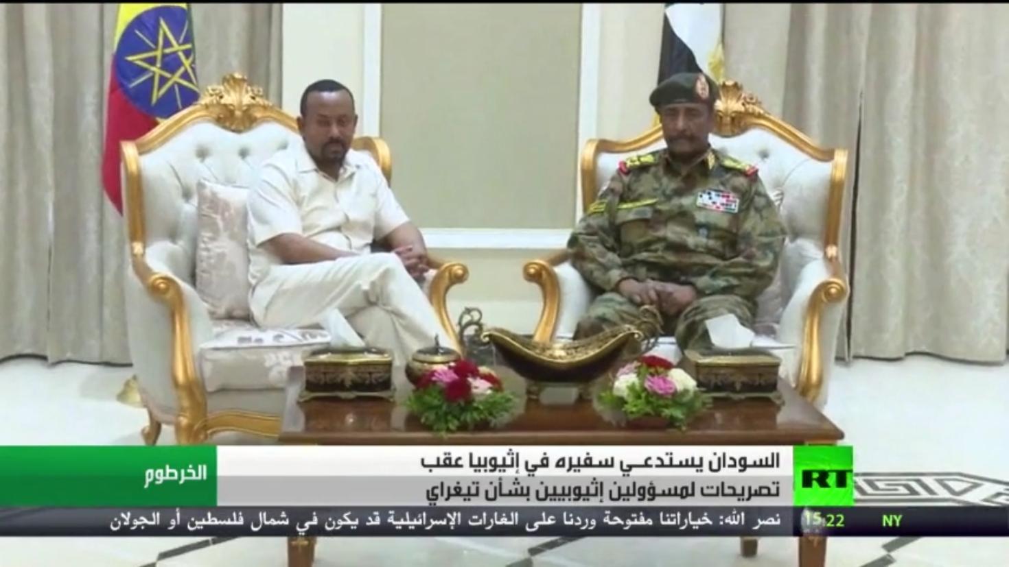 السودان يستدعي سفيره في إثيوبيا للتشاور