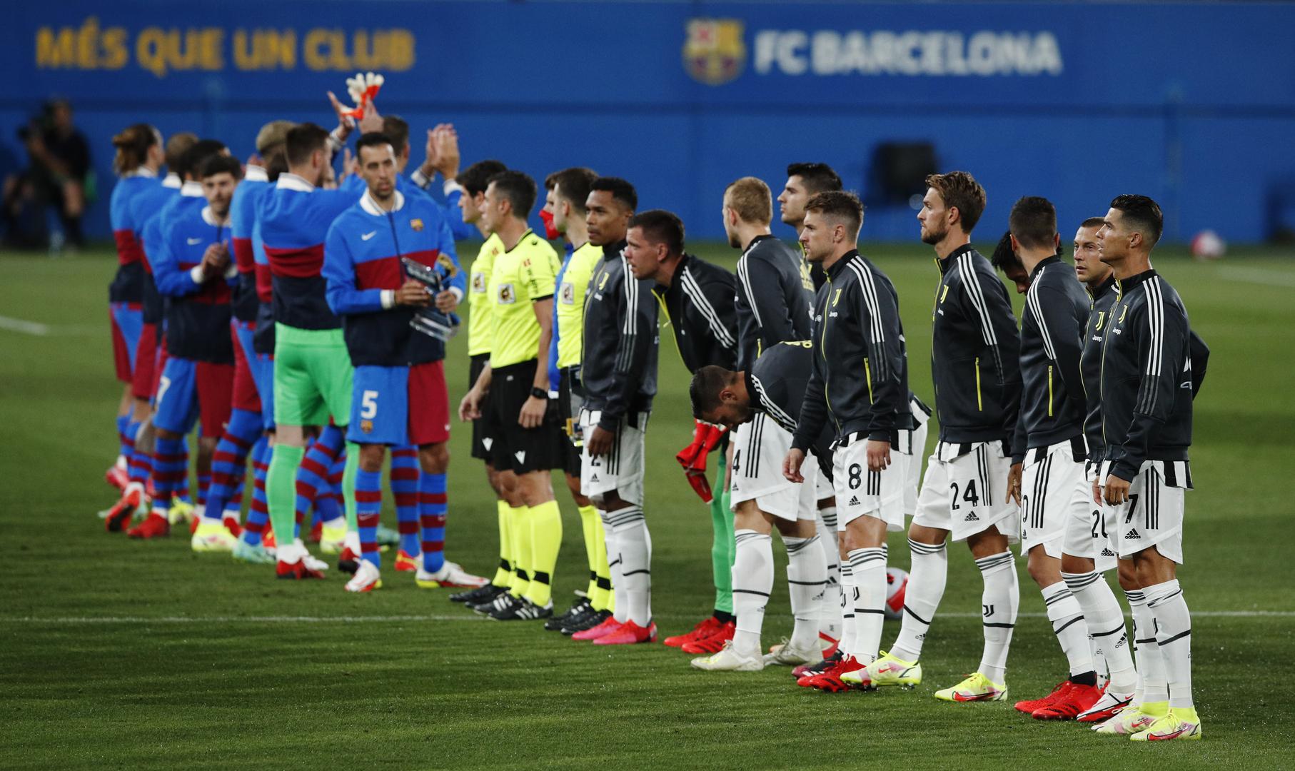 صافرات استهجان ضد لاعبي برشلونة بسبب ميسي خلال مواجهة يوفنتوس