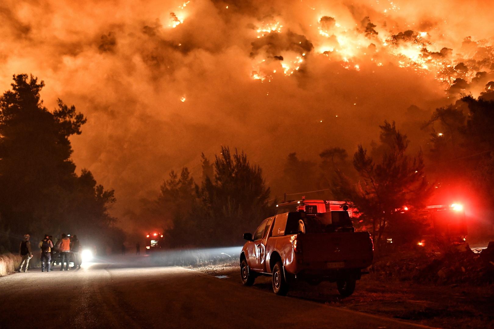 اليونان.. توقيف أكثر من 10 أشخاص لإضرامهم النار في الغابات