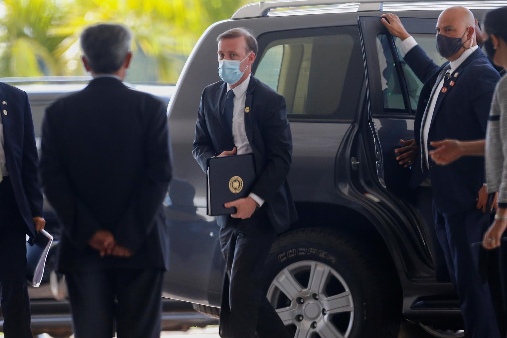 مستشار الرئيس الأمريكي للأمن القومي جيك ساليفان أثناء زيارته للبرازيل في 5 أغسطس 2021
