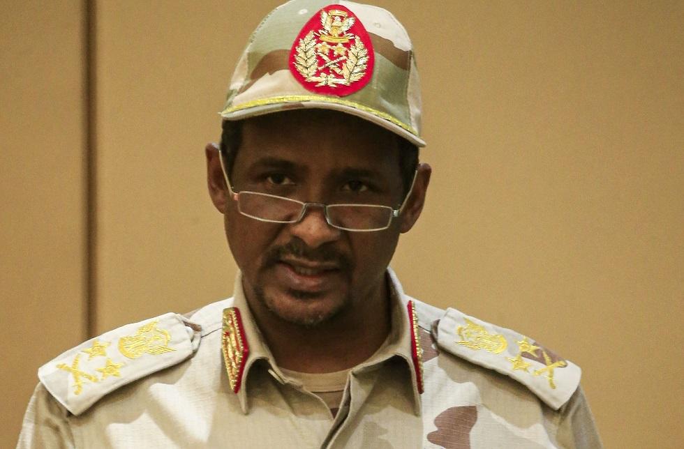 النائب الأول لرئيس مجلس السيادة الانتقالي في السودان، الفريق أول محمد حمدان دقلو