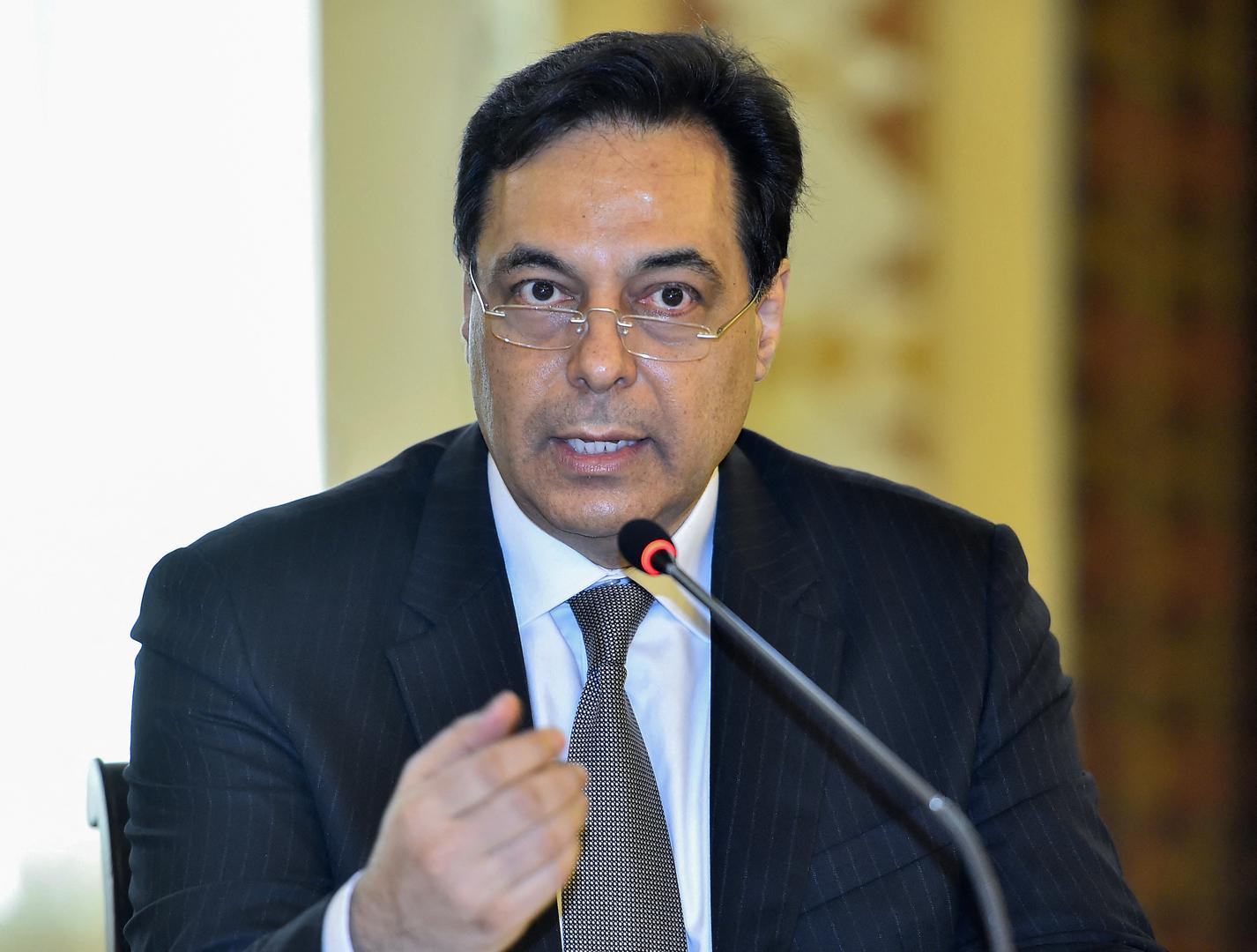 رئيس حكومة تصريف الأعمال اللبنانية حسان دياب