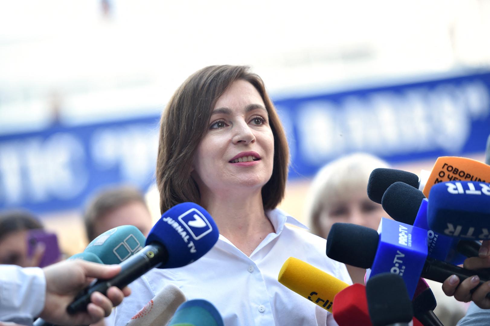 رئيسة مولدوفا: مصممون على حوار بناء مع روسيا