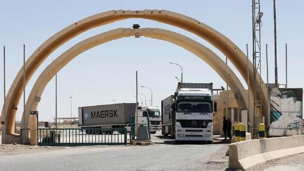 منفذ طريبيل الحدودوي بين العراق والأردن - أرشيف