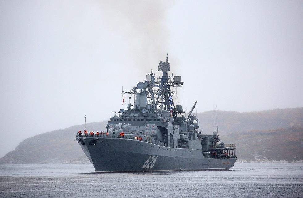سفينة حربية روسية تدخل مياه المتوسط