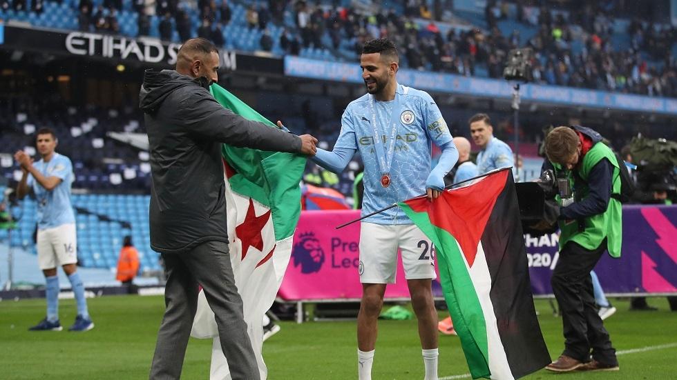 الجزائري محرز يتضامن مع المغرب