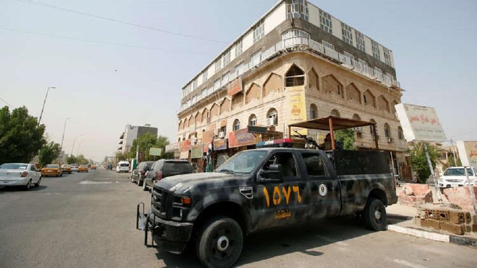 قوة أمنية في محافظة البصرة العراقية - أرشيف