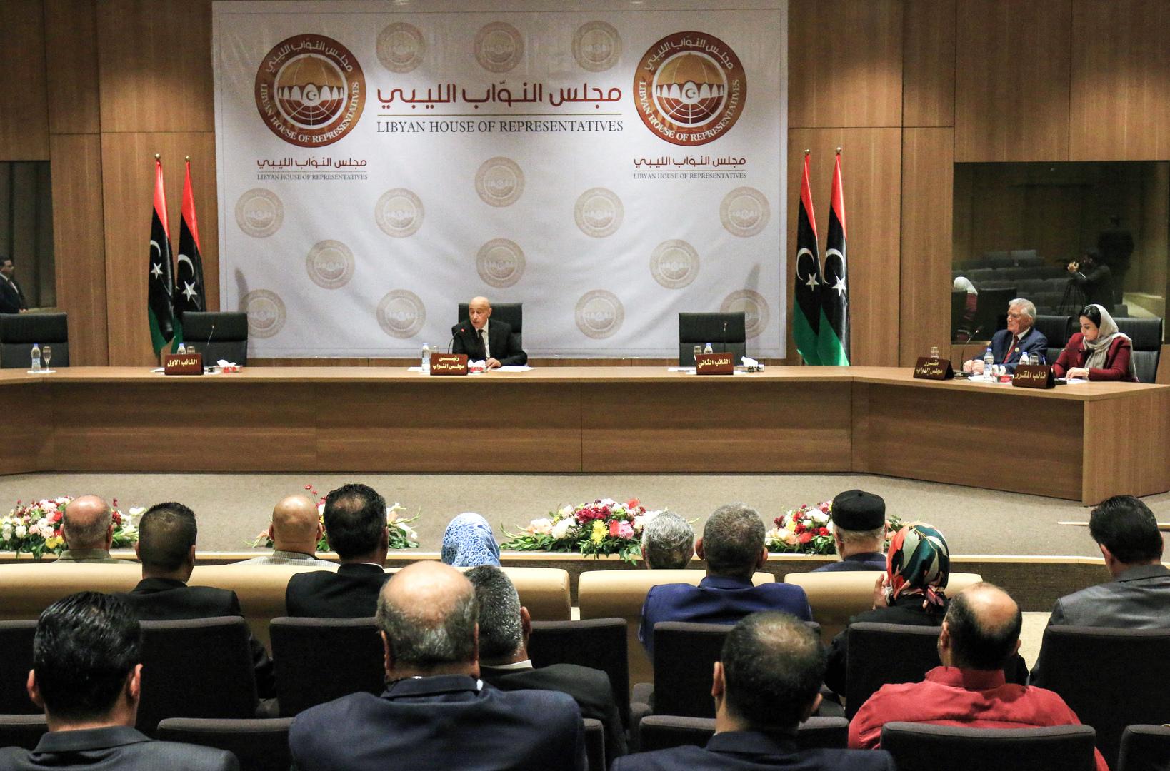جلسة لمجلس النواب الليبي.