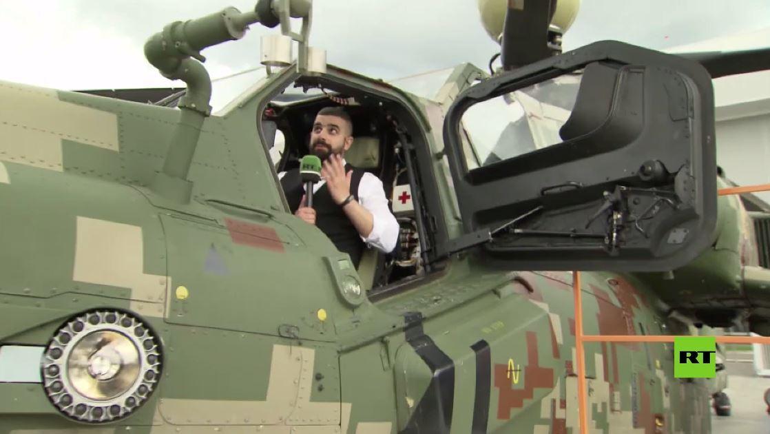 جولة حصرية لعدسة آرتي داخل إحدى أحدث المروحيات الروسية