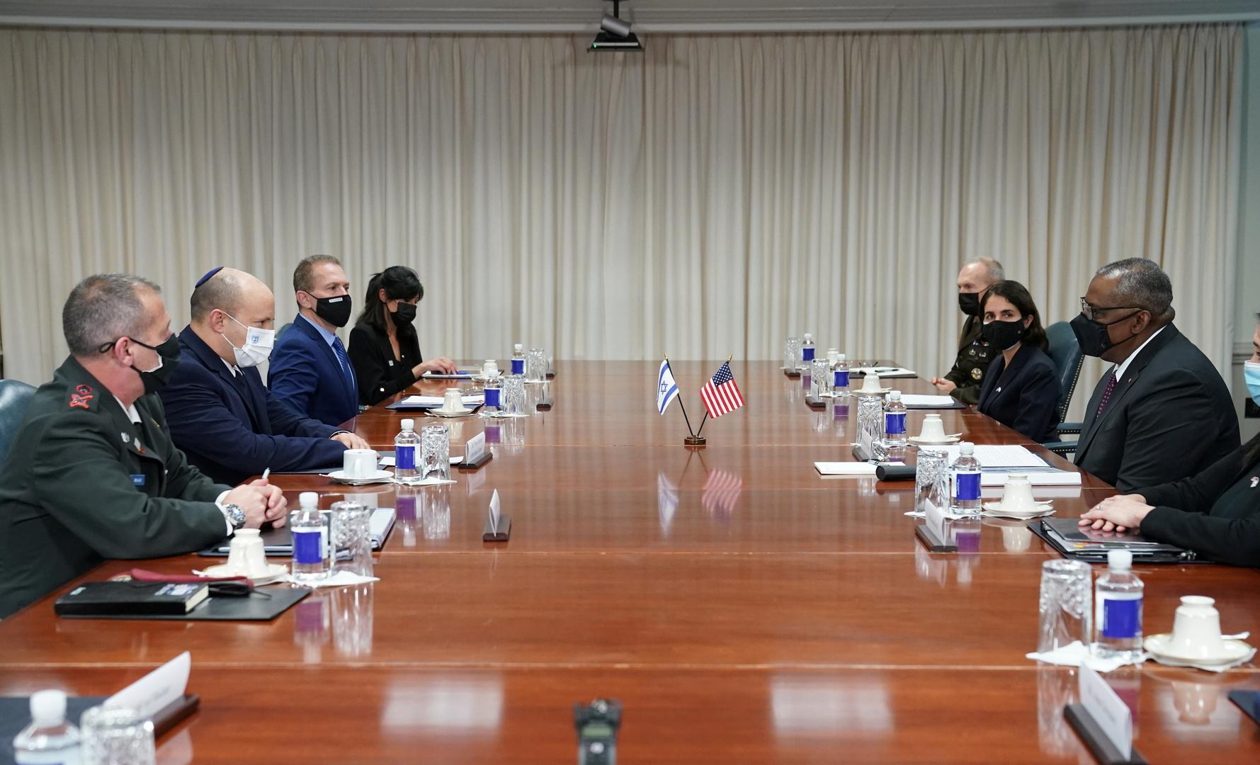 لقاء رئيس الوزراء الإسرائيلي نفتالي بينيت مع وزير الدفاع الأمريكي لويد أوستين في واشنطن