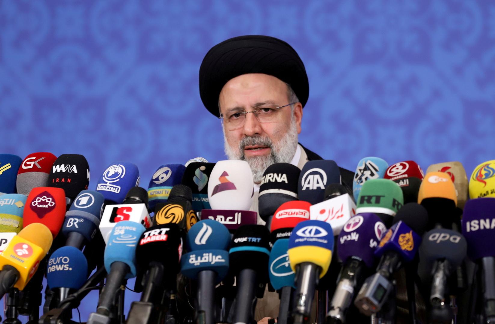 الرئيس الإيرانيإبراهيم رئيسي