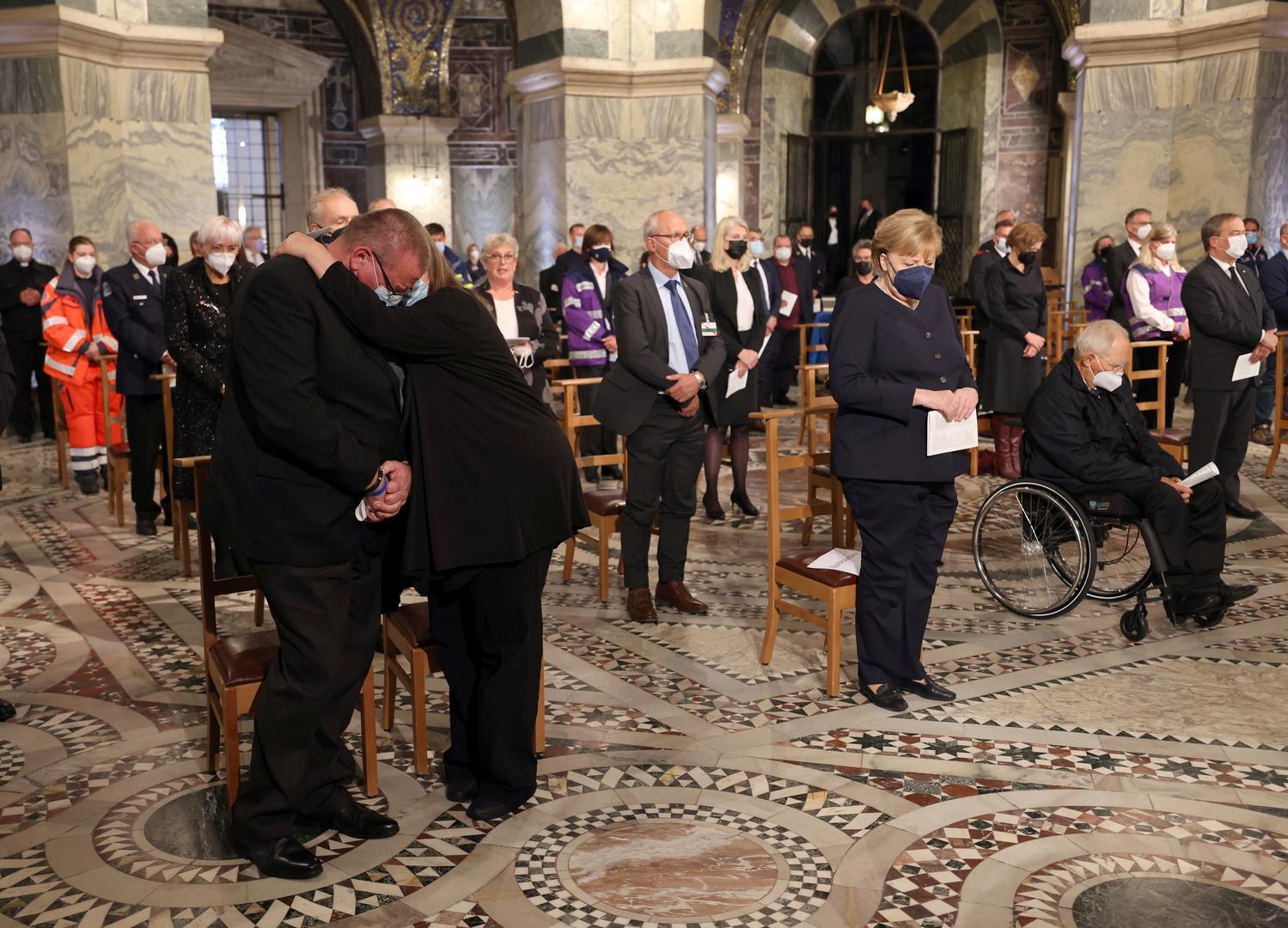 ألمانيا: ناجون وقادة يتذكرون ضحايا فيضانات يوليو