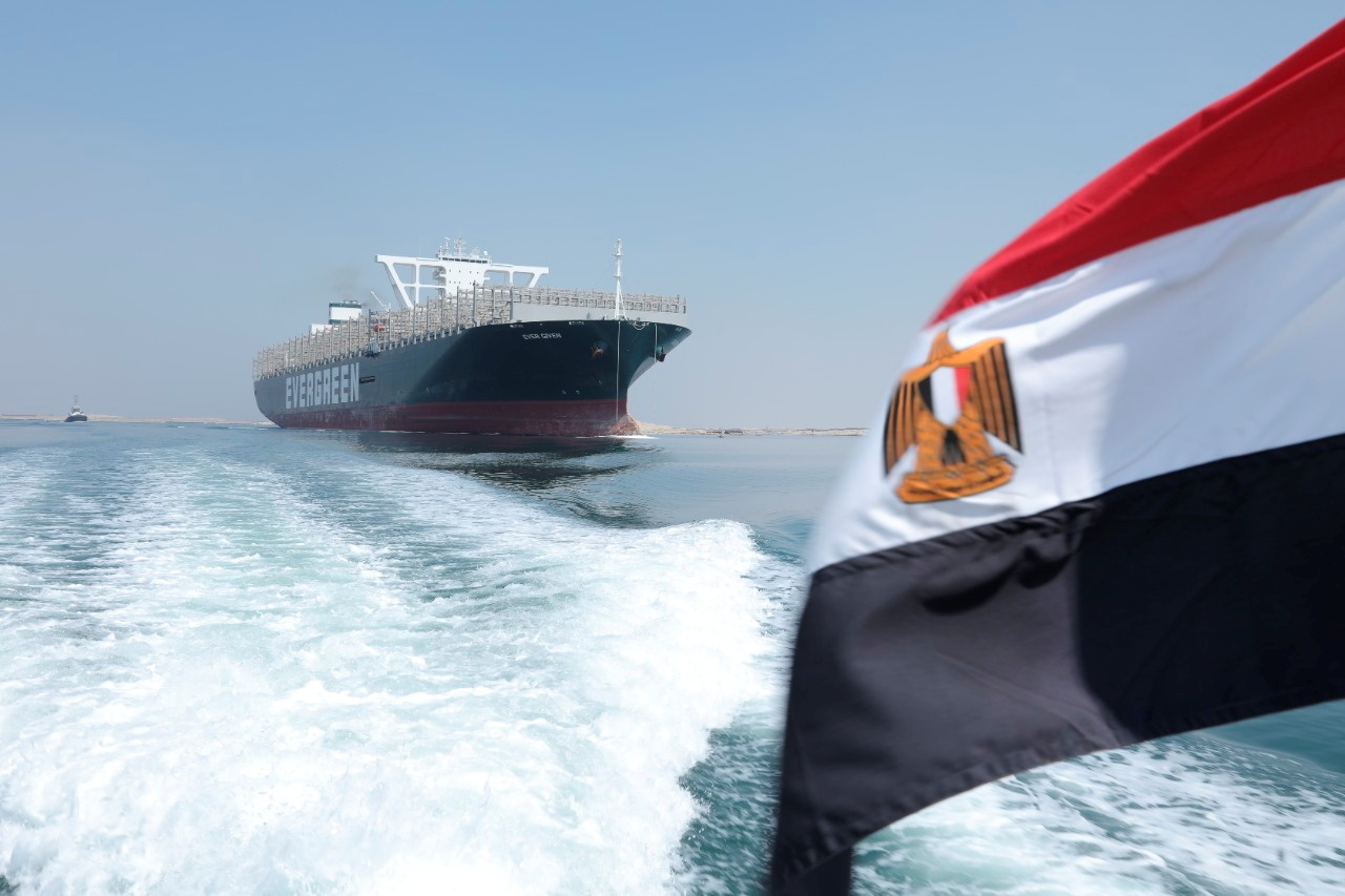 العلم المصري في قناة السويس، صورة تعبيرية