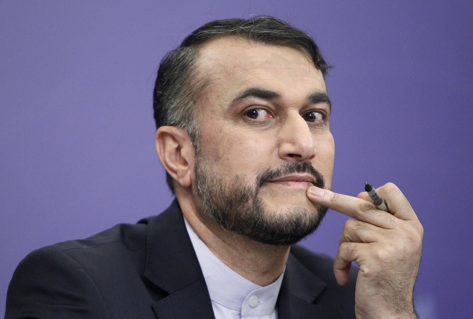 عبد اللهيان: بن فرحان أكد لي أن الرياض تنتظر استقرار الحكومة الإيرانية لاستئناف التواصل مع طهران