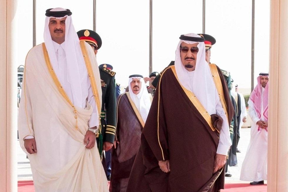 أمير قطر يعزي العاهل السعودي في الأميرة جواهر بنت عبد العزيز