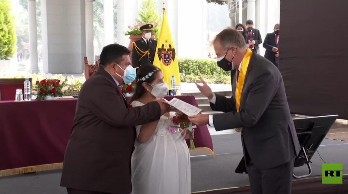 زفاف جماعي لـ200 شاب وفتاة في بيرو