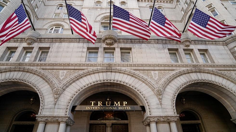 ترامب يبيع فندقه في واشنطن المخطوط اسمه بحروف ذهبية عليه