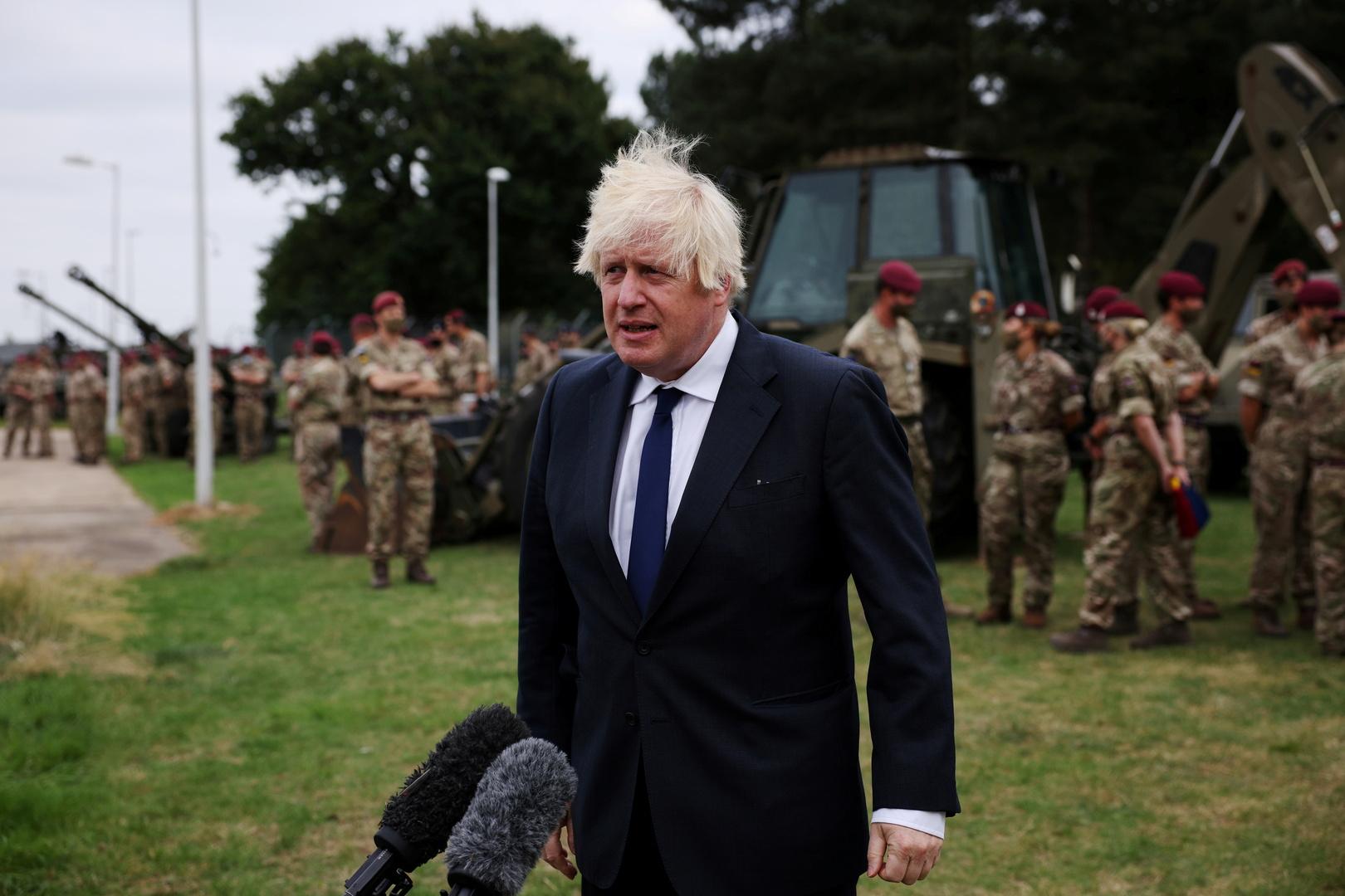 جونسون يلقي كلمة الاثنين أمام البرلمان البريطاني حول الانسحاب من أفغانستان