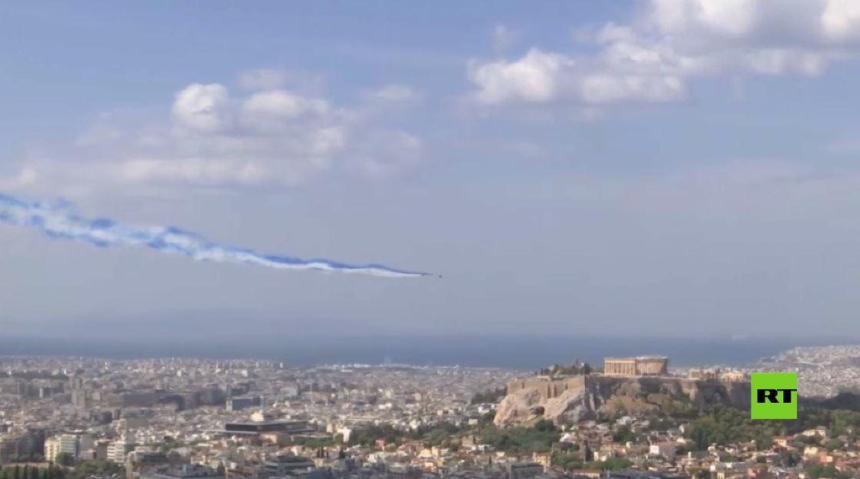 عرض جوي مثير.. طائرات فرنسية تحلّق فوق أكروبوليس أثينا
